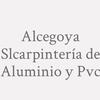 Alcegoya SLCarpintería de Aluminio y Pvc