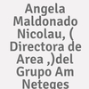 Angela Maldonado Nicolau, ( Directora De Area ,)del Grupo A.m Neteges