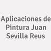 Aplicaciones de Pintura Juan Sevilla Reus