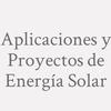 Aplicaciones y Proyectos de Energía Solar