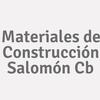 Materiales de Construcción Salomón Cb