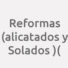 Reformas (alicatados Y Solados )