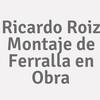 Ricardo Roiz Montaje De Ferralla En Obra