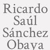 Ricardo Saúl Sánchez Obaya