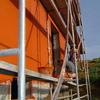 Monocapa en fachada de 35 m de altura