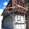 Construccion muro de bloques de 1 metro de altura en parcela