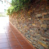 Revestimientos de piedra  un muro 180 mts cuadrados