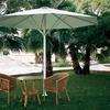 Instalar parasol para poner en una terrazza de bar