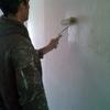 Pintar habitacion con pintura ecologica+ 2 puertas de armario correderas con espejo hasta techo, con guia en suelo+ 1 lateral de color cerezo