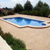 Construir piscina de obra de 4x8 metros, desbordante y con escalera interior