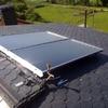 Instalacion de cuatro placas solares