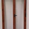 Suministro de puerta de hierro 4m x 4 m en dos hojas abatibles con chapa pegaso