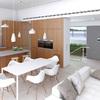 Proyecto  planta minímo 3 habitacions comedor cocina todo abierto y un baño completo y calefaccion.