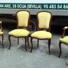 Tapizado de sillas y sillón individual