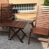 Barnizar/tratar sillón de jardín