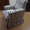 Tapizar un sillón con estampado