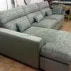 Transporte de una sofa tipo chaise longue