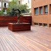 Valla de jardin de madera de ipe