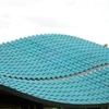 Cambio de techo, fabricado en tejas plasticas y estructura de madera