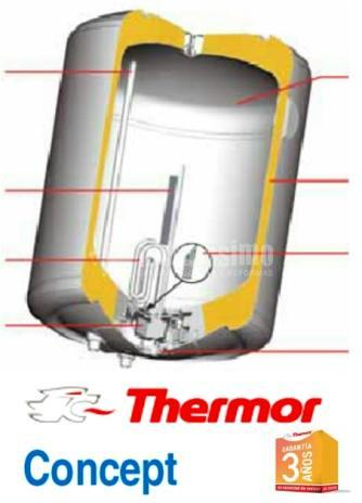 Oferta termo electrico thermor concept 50 80 y 100 - Termo electrico oferta ...