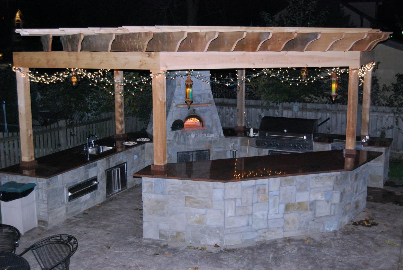 Oferta 5 cocina de exterior con barbacoa de obra en - Barbacoa exterior ...