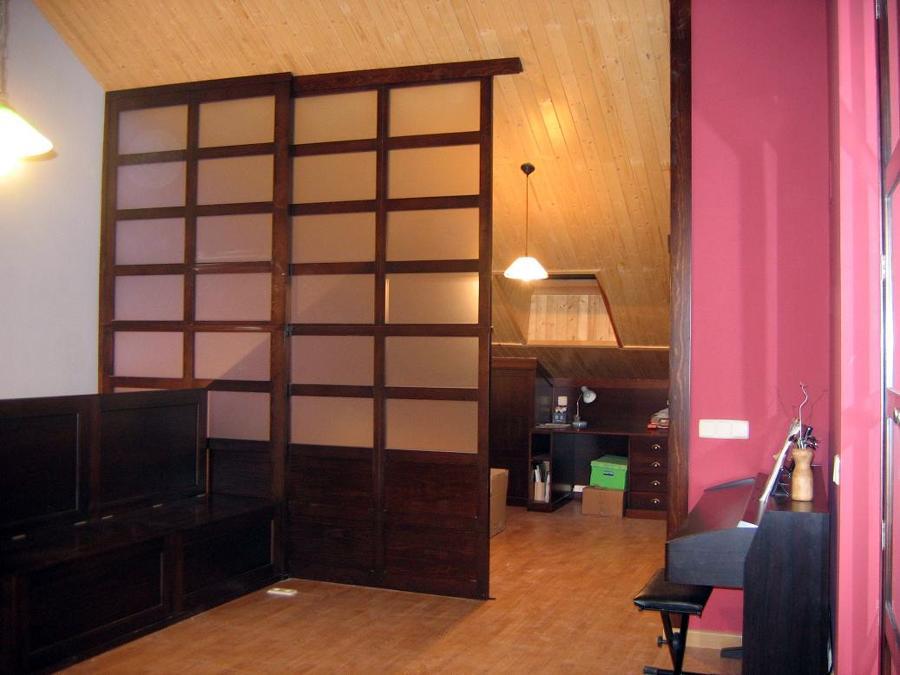 Pin separadores ambiente madera genuardis portal on pinterest - Separador de madera ...
