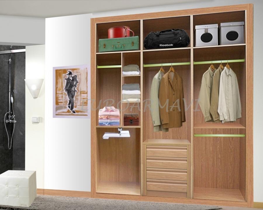 Oferta frente e interiores de armarios de melamina for Interiores de armarios