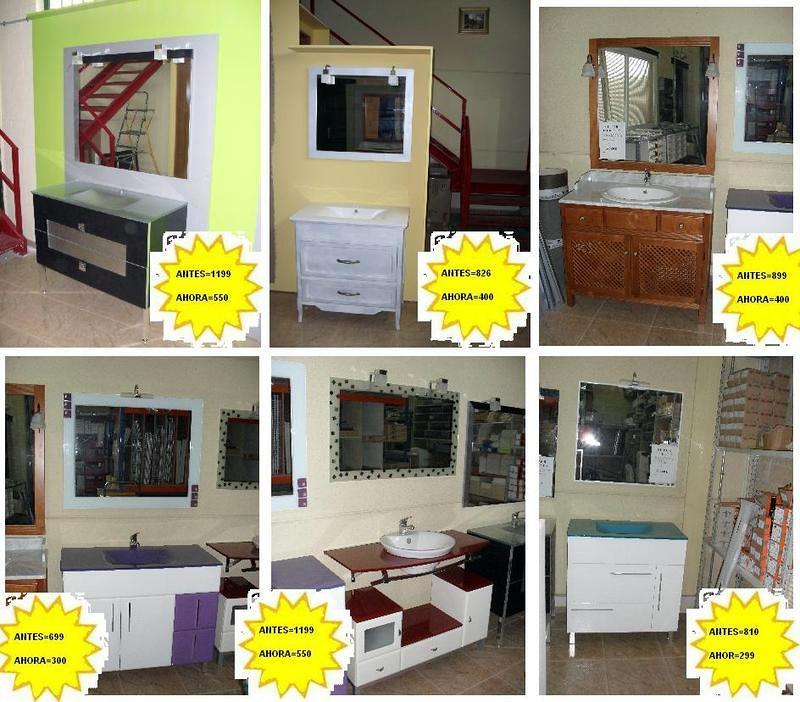 Oferta liquidaci n muebles ba o de exposici n a mitad de for Ofertas muebles de bano