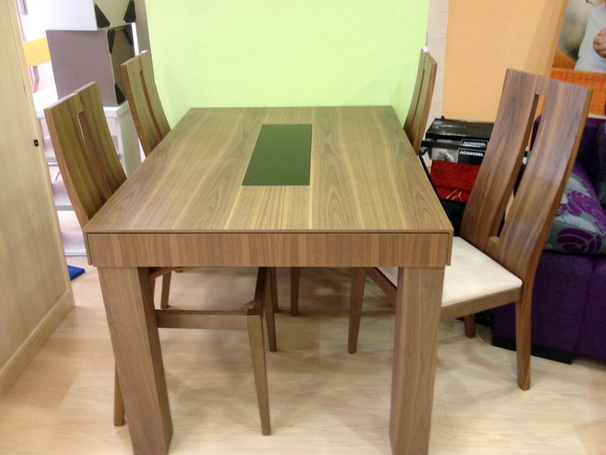 Exposiciones a precios extraordinarios ofertas muebles - Mesa comedor nogal ...