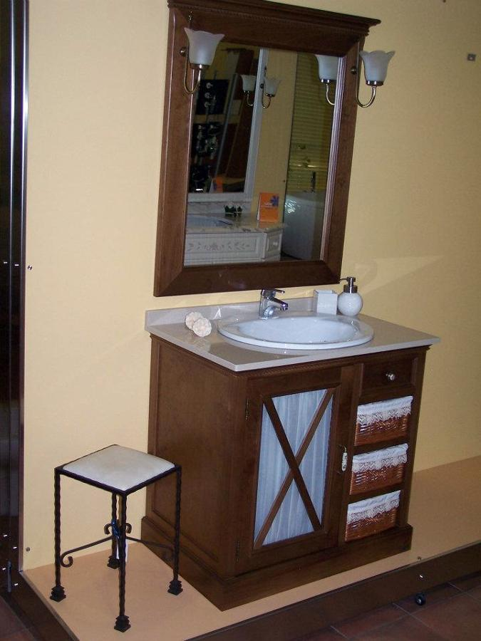 Mueble de ba o madera mimbre ofertas muebles - Muebles de bano madera ...