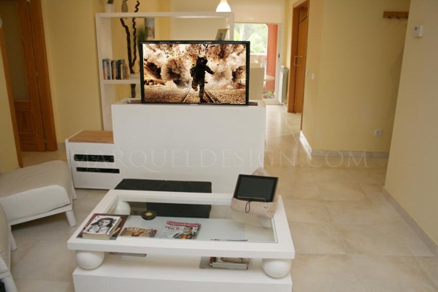 Oferta mueble tv a medida con tv oculta sist el ctrico for Ofertas muebles tv