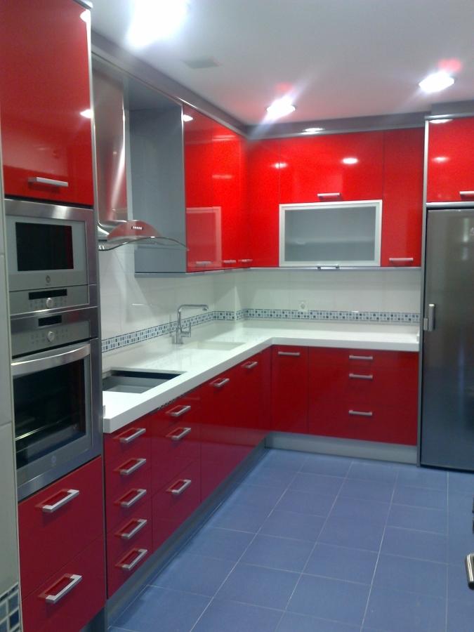 Cocinas En Rojo Y Gris. Perfect Cocina With Cocinas En Rojo Y Gris ...