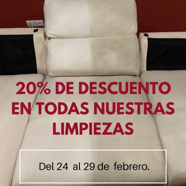 20% DTO LIMPIEZAS DE TAPICERIA