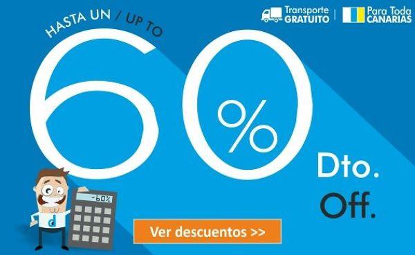 Descuentos en Canarias hasta el 60%