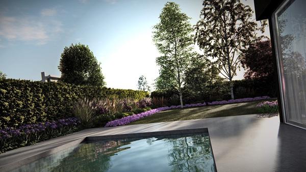 Diseño de Jardin y Piscina
