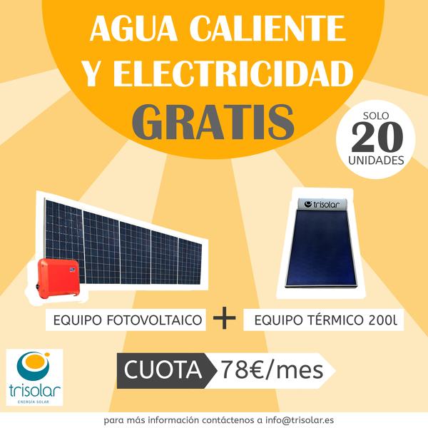 Energía Solar Térmica y Fotovoltaica por 78€/mes