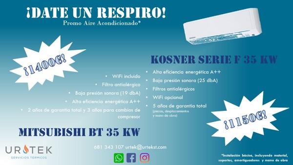 Instalación básica aire acondicionado desde 1.150€