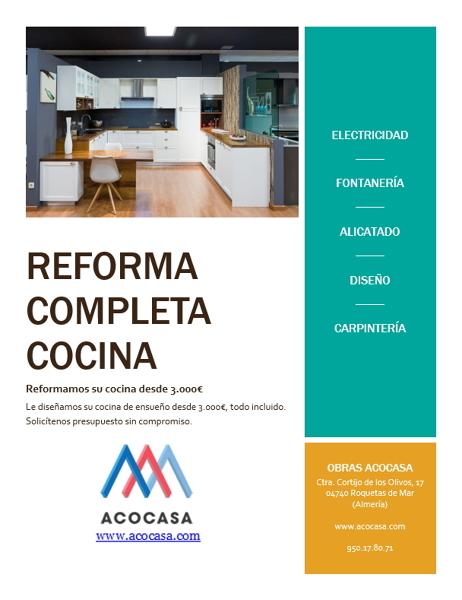 Acocasa roquetas de mar for Oferta cocina completa