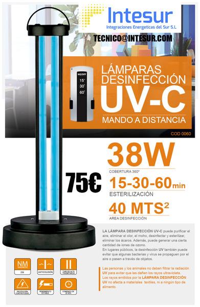 OFERTA LAMPARAS DESINFECCIÓN UV