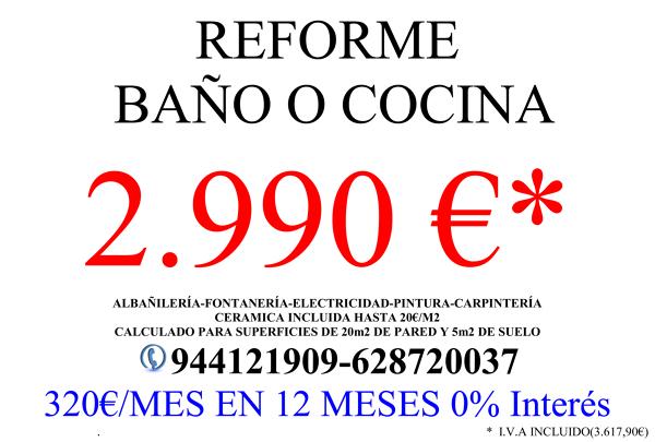 Oferta Reforma Cocina y Baño