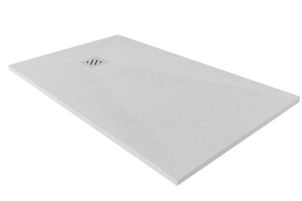 Plato de ducha plano pizarra blanco