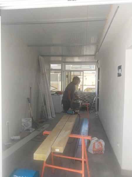 Preparando la colocación de los techos de pladur