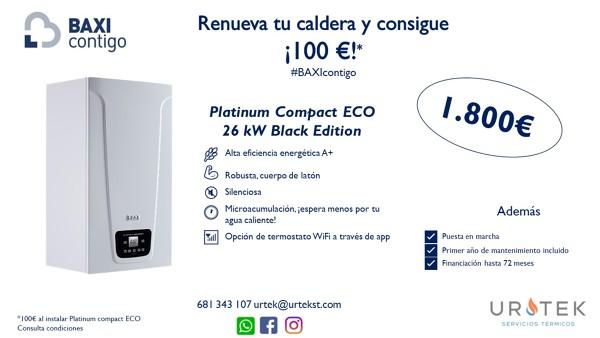 ¡Promoción! Llévate 100€ por tu nueva caldera