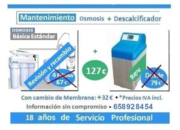 Revisión CONJUNTA de Osmosis Básica + Descalcificador