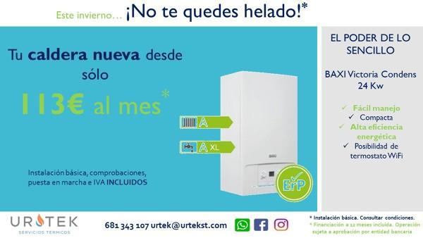 ¡Tu caldera nueva desde 113€/mes!