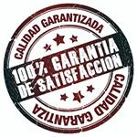 100 % GARANTIA DE CALIDAD Y SATISFACCION