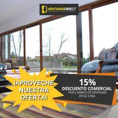 15% DESCUENTO CAMBIO VENTANAS