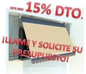 15% DESCUENTO EN TOLDOS INSTALACIÓN INCLUIDA