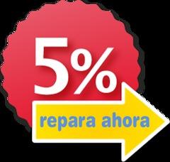 5% de descuento en la mano de obra de tus reparaciones