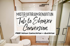 Bath to Shower Conversion